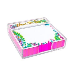 Lilly Pulitzer Notes w/ ACRYLC HOLDER